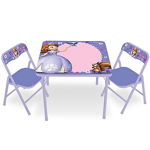 Sofia The First 3 Piece Activity Table And Chairs