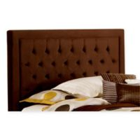 Hillsdale Kaylie Queen Headboard with Rails in Chocolate
