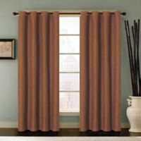 Reina 84-Inch Grommet Top Window Curtain Panel in Clay