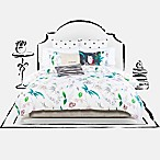 kate spade new york Trellis Blooms King Duvet Cover Set in White