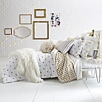 Glam Polka Dot Reversible Full/Queen Comforter Set in Gold