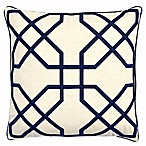 Asher Raised Embroidered 20-Inch Throw Pillow in Navy