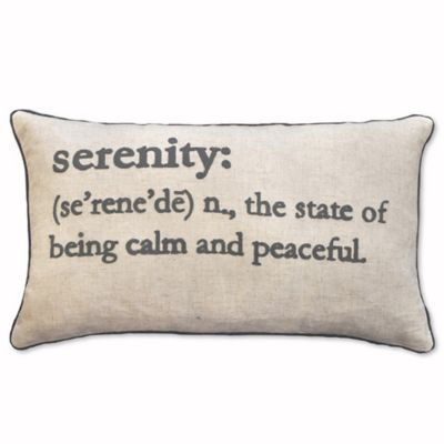 Serenity Definition Oblong Throw Pillow In Charcoal