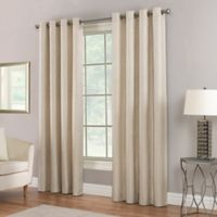 Waterfall 84-Inch Grommet Top Window Curtain Panel in Straw