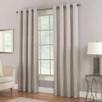 Waterfall 84-Inch Grommet Top Window Curtain Panel in Pewter