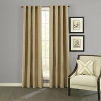 Twill & Birch® Presley 84-Inch Grommet Top Burlap Window Curtain Panels in Flax
