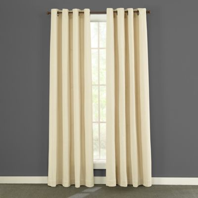Twill U0026 Birch® Presley 84 Inch Grommet Top Burlap Window Curtain Panels In  Ivory