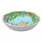 Birds of Paradise Melamine Small Bowl in Blue