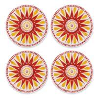 Gypsy Grapefruit Melamine Appetizer Plates (Set of 4)