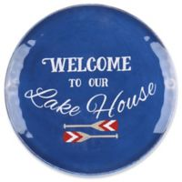 Welcome to Our Lake House Textured 14-Inch Round Serve Platter