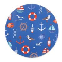 Seaside Life Icons Melamine Salad Plate