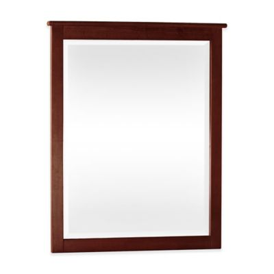 Hilale School House 31 25 Inch X 38 75 Rectangle Mirror In Cherry
