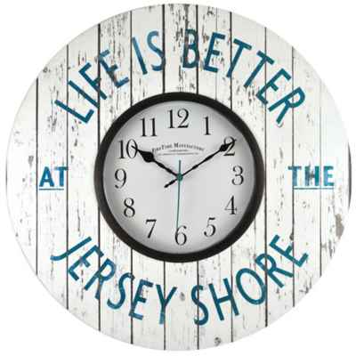 "FirsTime® ""Life is Better at the Jersey Shore"" Wall Clock"