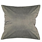 Solid Knit Velvet Square Throw Pillow in Grey