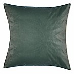 Solid Knit Velvet Square Throw Pillow in Spa