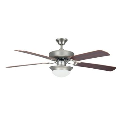 Concord Heritage 52 Inch 2 Light Fusion Energy Ceiling Fan In Satin Nickel
