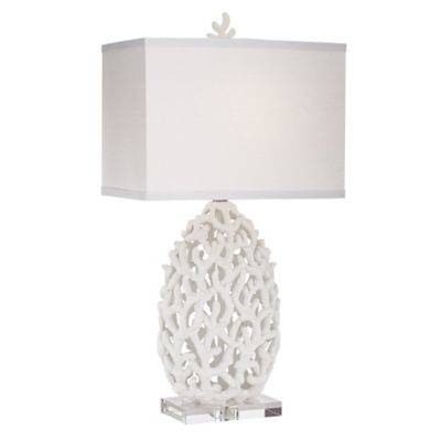 Great Kathy Ireland Coral Table Lamp In White