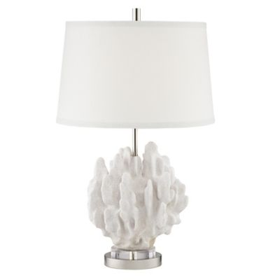 Pacific Coast Lighting Faux Leaf Coral Table Lamp In Butter