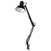 Globe Electric Multi Joint Metal Clamp Desk Lamp In Black