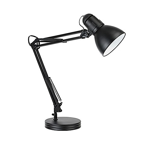 globe electric heavy base architect swing arm desk lamp in black bed bath beyond. Black Bedroom Furniture Sets. Home Design Ideas