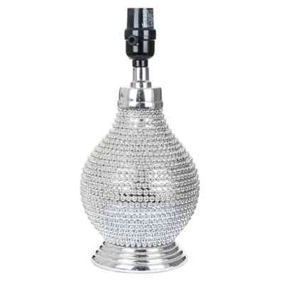 Mix & Match Beaded Lamp Base in Chrome