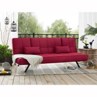 Serta® Dream Convertible Copa Sofa in Crimson