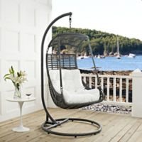Modway Jungle Patio Stand-Alone Swing Chair in White