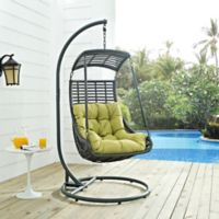 Modway Jungle Patio Stand-Alone Swing Chair in Peridot