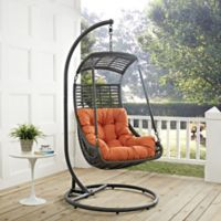 Modway Jungle Patio Stand-Alone Swing Chair in Orange