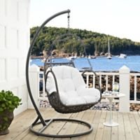 Modway Arbor Patio Stand-Alone Swing Chair in White