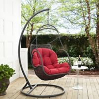 Modway Arbor Patio Stand-Alone Swing Chair in Red