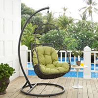Modway Arbor Patio Stand-Alone Swing Chair in Peridot