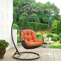 Modway Arbor Patio Stand-Alone Swing Chair in Orange