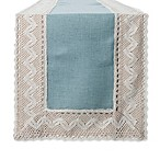 Crochet Lace 54-Inch Table Runner in Blue