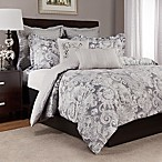 Lyon Reversible King Duvet Cover Set in Grey
