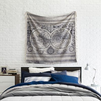 World map tapestry old world map tapestry throw blanket in taupe bed bath beyond gumiabroncs Image collections