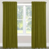 Skyline Blackout Velvet 120-Inch Rod Pocket/Back Tab Window Curtain Panel in Apple Green