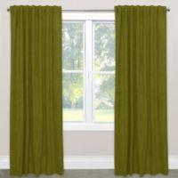 Skyline Velvet 96-Inch Rod Pocket/Back Tab Window Curtain Panel in Apple Green