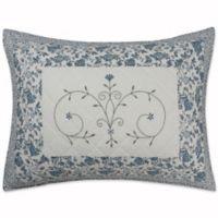 Nostalgia Home® Natalie Standard Pillow Sham in Ivory/Blue