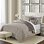 Camber Reversible King Quilt Set in Taupe