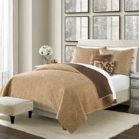 Camber Reversible Twin Quilt Set in Straw