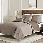 Washed Reversible King Quilt Set in Taupe