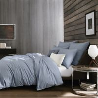 Kenneth Cole New York Escape Pinstriped Reversible Twin Duvet Cover in Blue