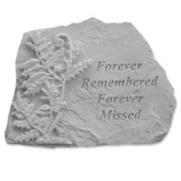 """Forever Remembered"" Memorial Stone with Fern"