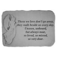 Those We Have Held Memorial Stone in Grey