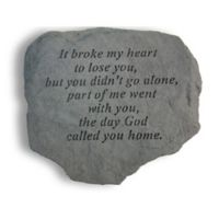 It Broke My Heart Memorial Stone in Grey