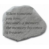 """When Someone You Love"" Memorial Stone in Grey"