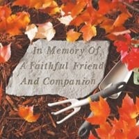 """In Memory of a Faithful Friend"" Memorial Stone"