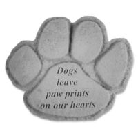 """""""Dogs Leave Paw Prints"""" Memorial Stone in Grey"""
