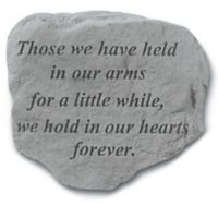 Those We Have Held In Our Arms Memorial Stone in Grey